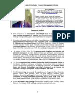 Tarun Das CV for Public Financial Management Reforms