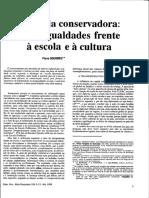 A Escola Conservadora - as desigualdades frente à escola e à cultura - Pierre Bourdieu (2).pdf