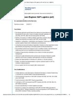 Junior Software Engineer SAP Logistics (M_f) - Job Bei Hays in Ruhrgebiet