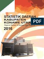 Statistik Daerah Kabupaten Konawe Utara 2016