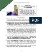 Tarun Das CV for Public Financial Reforms