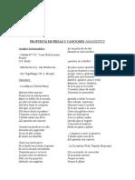 Propuesta de Piezas y Canciones Papagenitos