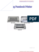 Setting Passbook Ibm Wincor Pr2e New