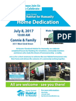 Habitat for Humanity W 52nd Street House - Home Dedication 07/08/2017