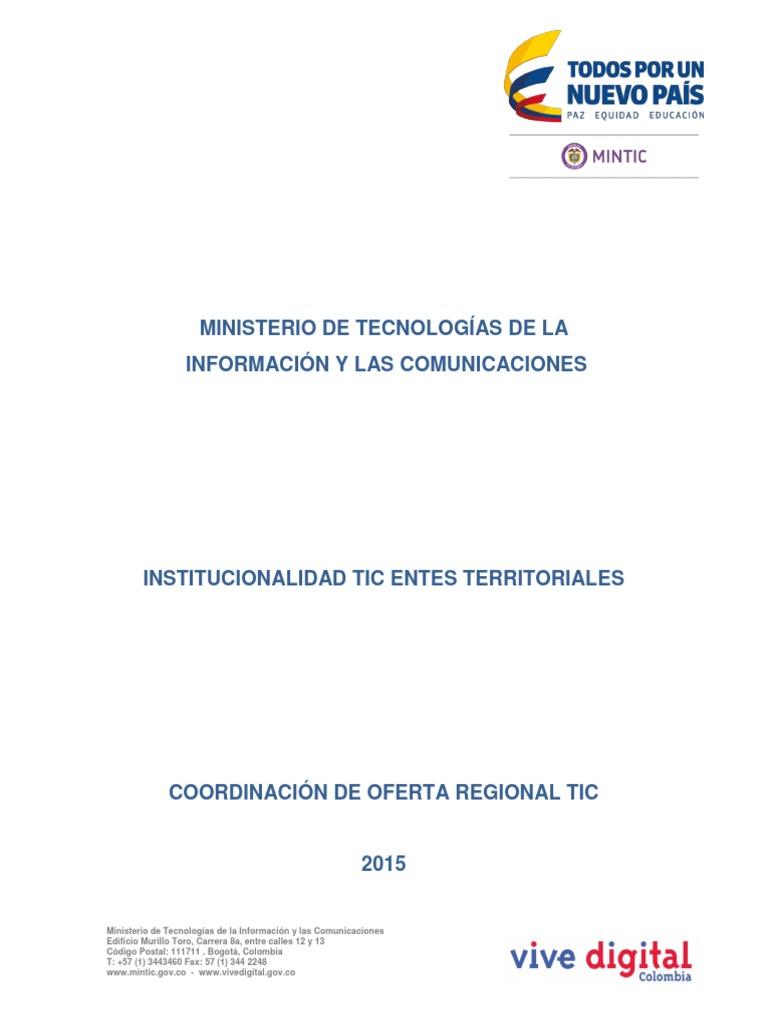 Actualización - Guia Institucionalidad TIC
