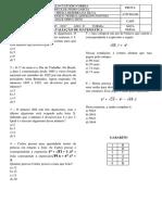 2ª AVALIAÇÃO (6º ANO) Matematica