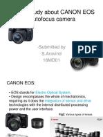 A Case Study About CANON EOS Autofocus Camera