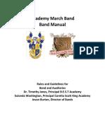 academy march band handbook