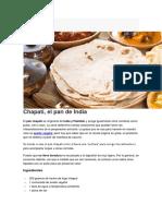 Pan Chapati, Roti o Naan