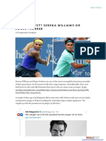 Serena vs Federer