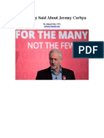 What They Said About Jeremy Corbyn