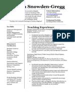 s  snowden professional resume