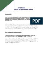 NF C 15-100 conséquence sur les courants faibles