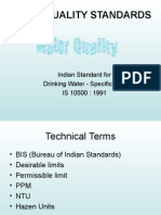 Indian Standard for Drinking Water as Per BIS Specifications_2010