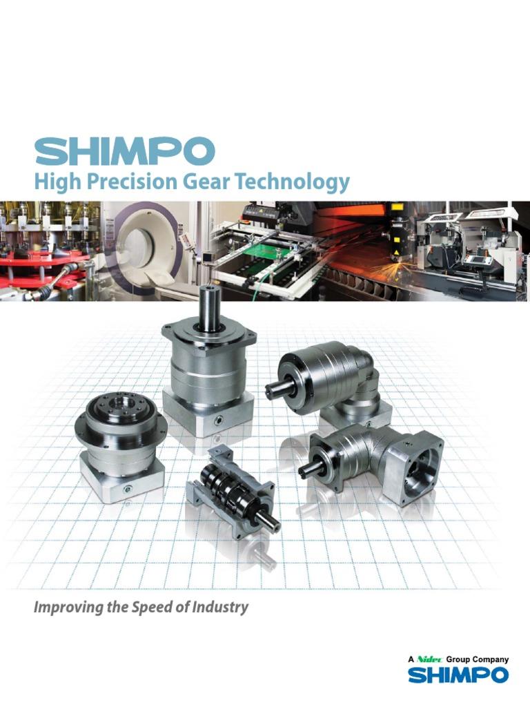 Shimpo High Precision Catalog | Gear | Bearing (Mechanical)