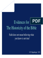 Historicity of Bible