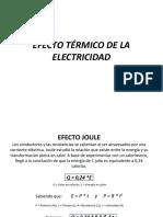 Efecto Termico de La Electricidad