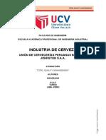 Informe de La Cerveza Tqm PDF