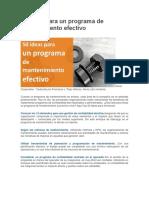 50 Ideas Para Un Programa de Mantenimiento Efectivo