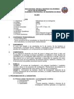 IM805 Metodologia de La Investigación