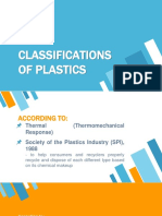 Classifications of Plastics