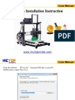 Cura for HICTOP 3D Printer Beginner