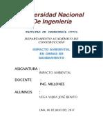 Pc4 Impacto Ambiental en Obras de Saneamiento