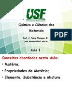 Química e Ciências Dos Materiais - Aula 1