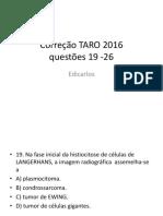 Correção TARO 2016