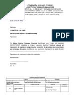 Carta de Aprobacion Proyecto