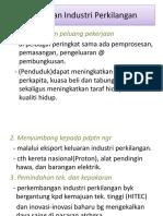 kepentingan sektor perindustrian
