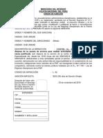 Orden de Sanción Modelo PNP
