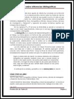 (Teórico 10) Apunte Sobre Referencias Bibliograficas