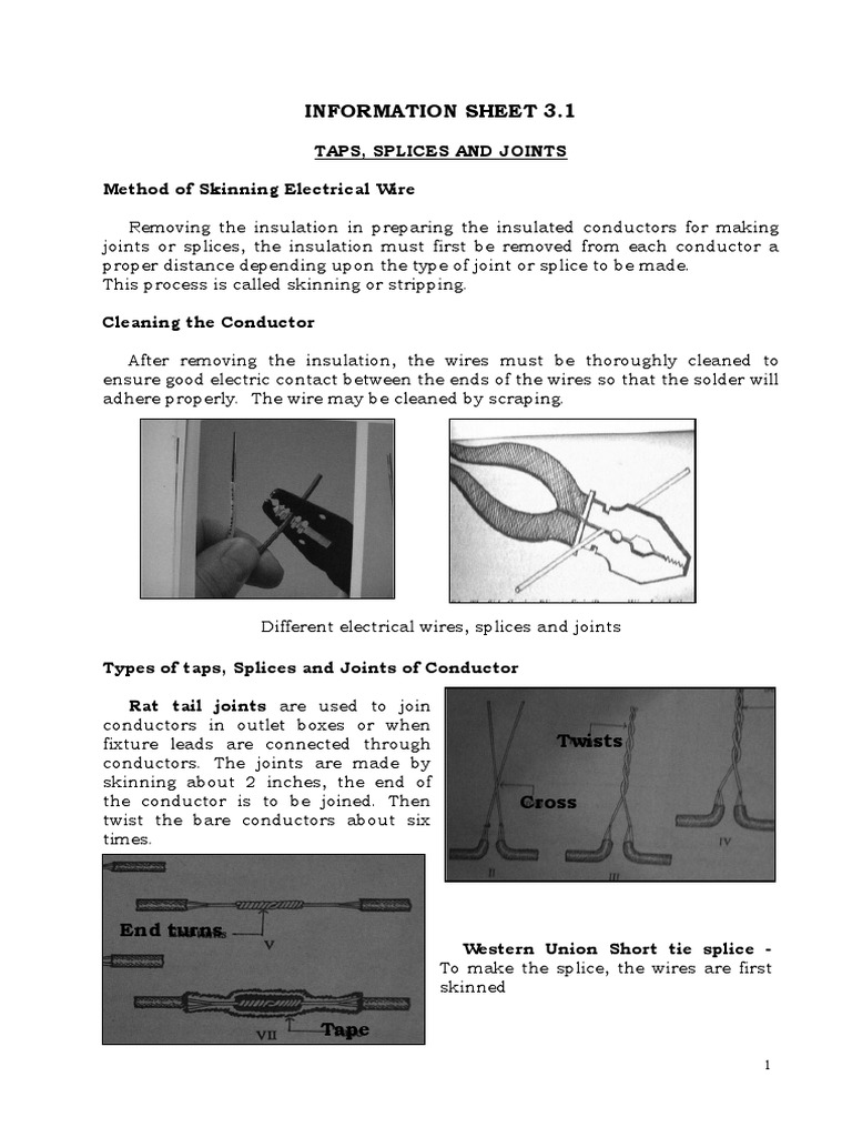 Funky Types Of Wire Splices Gallery - Electrical Diagram Ideas ...