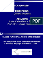 Acidos Carboxilicos e Esteres 2015
