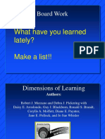 Dimension of Learning Marzano