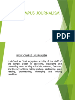 Basic Campus Journalism Scribd