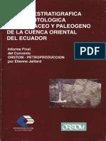 Sintesis Estratigrafica y Sedimentologica Del Cretaceo y Paleogeno de La Cuenca Oriental Del Ecuador.