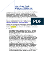 Lottery Scam Email