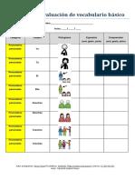 Registro de Evaluacion de Vocabulario Basico Con Pictogramas