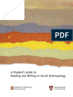 Anthropology Writing Guide - Harvard