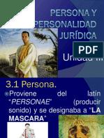 Unidad III Persona y Personalidad Jurídica