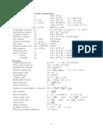 Useful Conversions Formulas