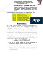 Constitución Política Peruana Del 1839