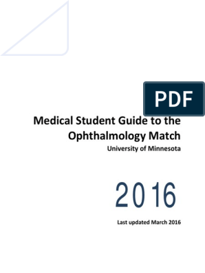 Medical Student Guide Ophthalmology Match 0   Residency