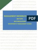 BA7205 Management Informantion System
