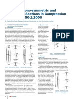 0-Design of Mono-symmetric and Asymmetric Sections in Compression