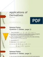 Applications of Derivatives-related Rates