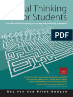 Critical Thinking for Students - Roy Van Den Brink-Budgen