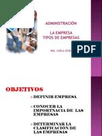 1.1la Empresa, Tipos de Empresas